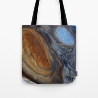 nasa Tote Bags featuring liver-spotted king (nasa #02) by _mackinac