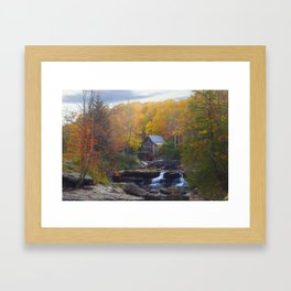 Glade Creek Mill in Autumn Framed Art Print