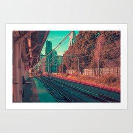 TOKYO TRAIN 02 Art Print