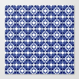 Blue and White Canvas Print