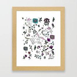 Spring Hare Framed Art Print