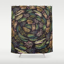 circular garden second version Shower Curtain