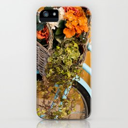 Basket Full of Flowers iPhone Case