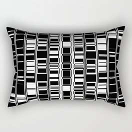 Bar Code Black and White Abstract Design Rectangular Pillow