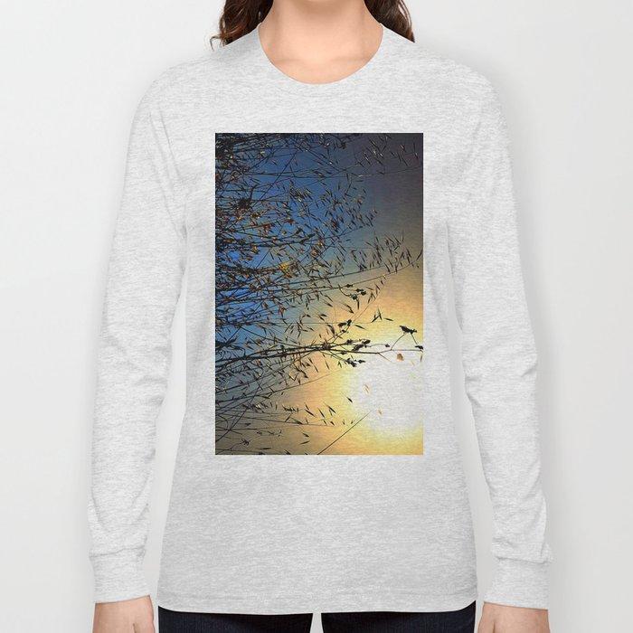 grass at sunset Long Sleeve T-shirt