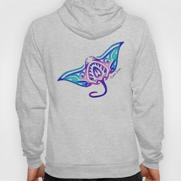 Tribal Manta Ray Hoody