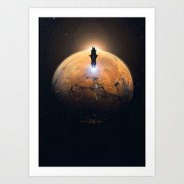 Rocinante Silhouette Art Print