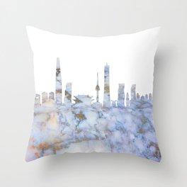 Seoul South Korea Skyline Throw Pillow