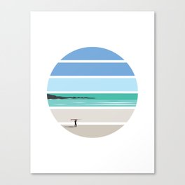 Tiree Longboarder Canvas Print