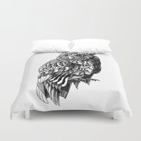 bioworkz Duvet Covers featuring Owl 2.0 by BIOWORKZ