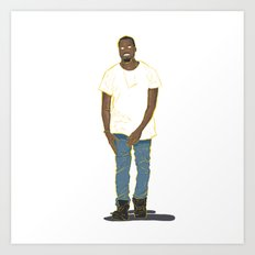 Mr West Art Print