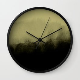 golden lime & graphite Wall Clock