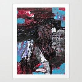 80's Cornucopia Modern Abstract Painting Art Print