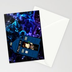 Tardis in space Doctor Who 11 Stationery Cards