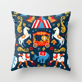 Circus royal Throw Pillow