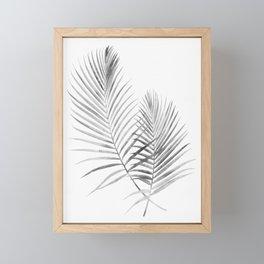 Black and White Palm Fronds Framed Mini Art Print