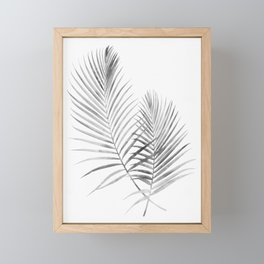 Black and White Palm Fronds Framed Mini Art Print