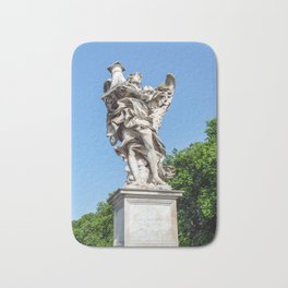 Angel with the Column at the Sant'Angelo bridge - Rome, Italy Bath Mat