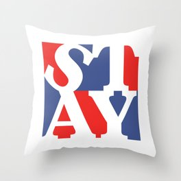 Patriotic Stay Throw Pillow