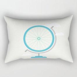 Bike Globe Rectangular Pillow