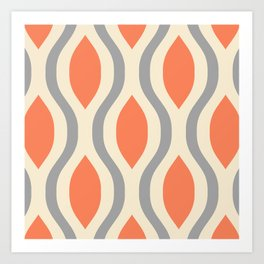 Pretty Ogee Pattern 368 Art Print