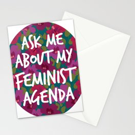 My Feminist Agenda Stationery Cards