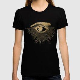 I See You. Vintage Gold Antique Paper T-shirt