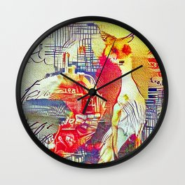 City Fox Wall Clock