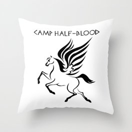 Camp Half-Blood Black Wings Throw Pillow