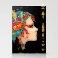 glitch Stationery Cards featuring Glitch by Steve W Schwartz Art