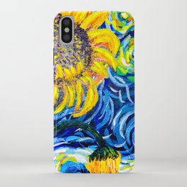 Gorgeous Blue and Yellow Van Gogh Sunflowers iPhone Case