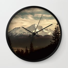 Mount Shasta Waking Up Wall Clock