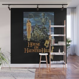 House On Haunted Hill, 1959 Campy Horror Movie Wall Mural