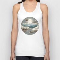 world maps Tank Tops featuring Ocean Meets Sky by Terry Fan