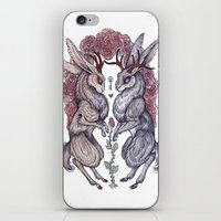 hearts iPhone & iPod Skins featuring Rare Hearts by Caitlin Hackett