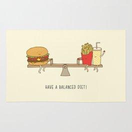 balanced diet Rug