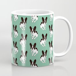 Cute double hooded pied Frenchie is chilling at home Coffee Mug