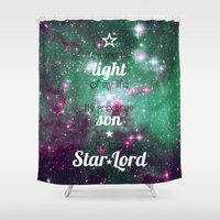 star lord Shower Curtains featuring My Little Star Lord by foreverwars