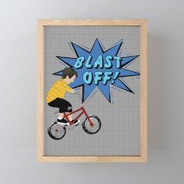 Pop a Wheelie Framed Mini Art Print