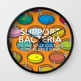 Support Bacteria Wall Clock