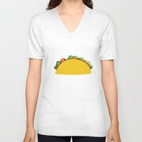 taco V-neck T-shirts featuring Taco  by Beautiful Artworks