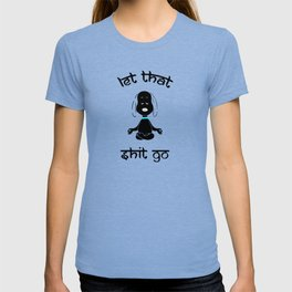 Snoopy let that shit go black T-shirt