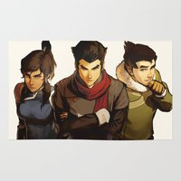 returns Area & Throw Rugs featuring Korra Returns by Caleb Thomas