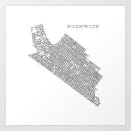 Bushwick, NY Art Print
