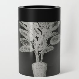 Strong Saints - Magic Dark collage with key, saints, net, shells, plants and grid Can Cooler