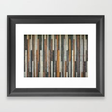 Wood Paneling Framed Art Print