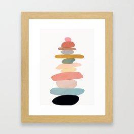 Balancing Stones 22 Framed Art Print