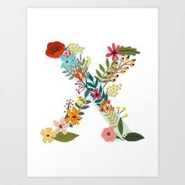 Monogram Letter X Art Print