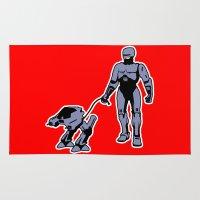 robocop Area & Throw Rugs featuring Robocop by dutyfreak