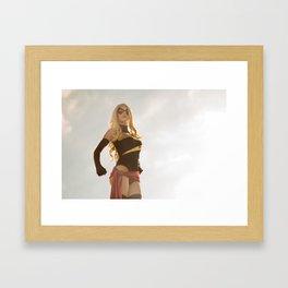 Katie Cosplays as Ms Marvel Framed Art Print